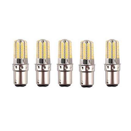 Nrthtri LED BA15D Double Contact Bayonet Base 220 Volts 4W Led Light Bulb,T3/T4/C7/S6,LED 35W Halogen Replacement Bulb,Dimmable,5-Pack LED Edison Screw Bulb (Color : Cool Whtie)