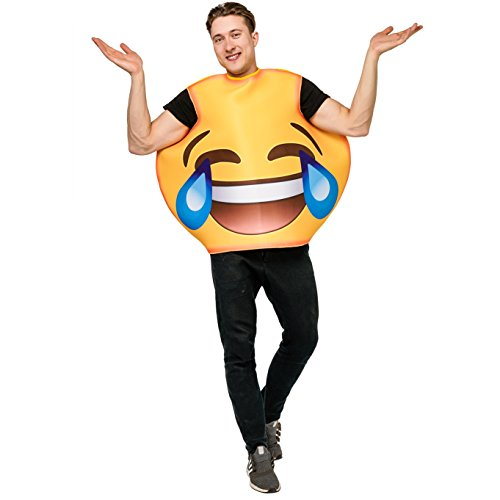 DSplay Emoticon Costumes for Unisex Adult OneSize (Laugh Cry) -