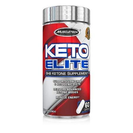 Keto Elite BHB Ketone Low Carb Ketogenic Diet Muscle Energy, 60 Capsules (Pack of 2)