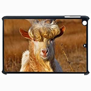 Customized Back Cover Case For iPad Air 5 Hardshell Case, Black Back Cover Design Goat Personalized Unique Case For iPad Air 5