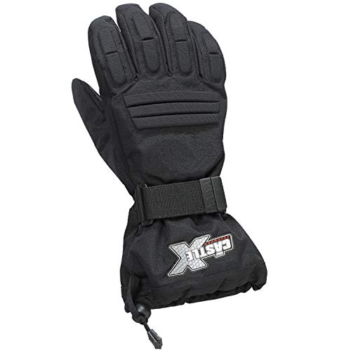 Castle X Platform Mens Snowmobile Gloves - Black - Large