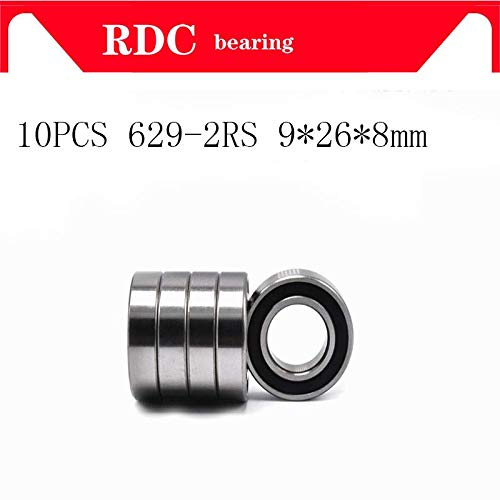 5x 629 2RS Rubber Sealed Deep Groove Ball Bearings 9x26x8 mm