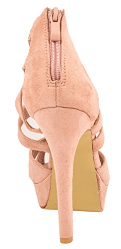 Pink Pumps Damen Heels High Chunkyrayan Cut Stilettos Elara Out Moderne Wildlederoptik pvZwqgq