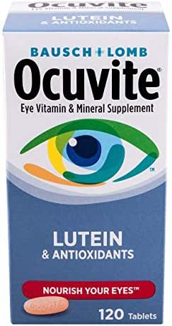 Bausch & Lomb Ocuvite Vitamin and Mineral Supplement for Eyes with Lutein Tablets, 240-Count