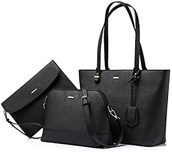 Lovevook 3-Pcs Women Shoulder Bags Tote Satchel Hobo