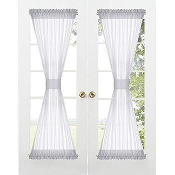 Rod Pocket Sidelight Single Curtain Panel