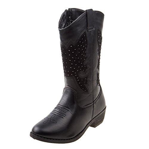 stern Cowboy Boot, Black Studs, Size 12 Little Kid' ()