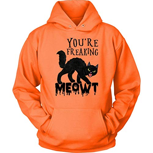 You're Freaking Meowt Costume T-Shirt - Funny Cat Lover Humor Tee - Best Gift for Cats Lover Hoodie (Youth Hoodie Orange, M)