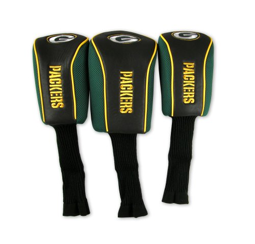 NFL Green Bay Packers 3 Pack Mesh Longneck Headcover Set, Outdoor Stuffs