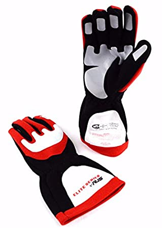d1cbe901501d9 Amazon.com: RJS Racing SFI 3.3/5 Elite Driving Racing Gloves RED ...