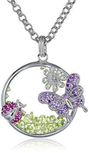 Ruby Lane Jewelry (Kenneth Jay Lane Fine Jewelry Sterling Silver, Amethyst, Topaz, Ruby, and Peridot Butterfly)