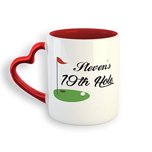 Hole 19th Ceramic - Personalized Custom 19th Hole Sports Ceramic Valentine's day Coffee Mug 11 Oz
