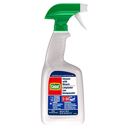 Line Liquid Disinfectant Bathroom Cleaner - Comet 02287CT Cleaner with Bleach, 32 oz Spray Bottle (Case of 8)