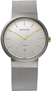Bering Titanium Collection Reloj elegante para hombres Plano & ligero