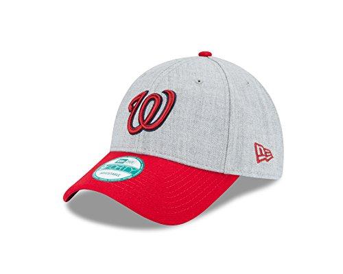 New Era MLB Washington Nationals The League Heather 9Forty Adjustable Cap, One Size, Heather