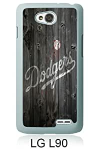 Los Angeles Dodgers Wood White Personalized Photo Custom LG L90 Cover Case