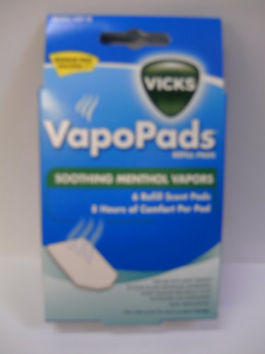Vicks VSP19 Soothing Menthol Scent Pads 6 Count (Menthol Soothing Scent)