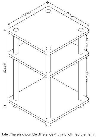 Furinno Turn-N-Tube Easy Assembly Multipurpose Shelf