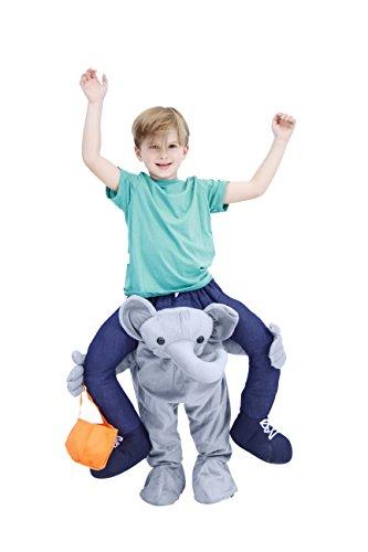 [Costume Agent Men's Piggyback ELEPHANT Ride-On Costume, Elephant, Youth] (Ride On Elephant Costume)