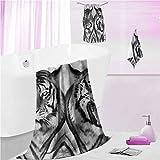 DayDayFun Bath Towels Set Safari Soft Comforable