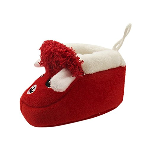 Igemy 1 Paar Kleinkind Neugeborenen Baby cute Soft Sole Stiefel prewalker Warme Schuhe Rot