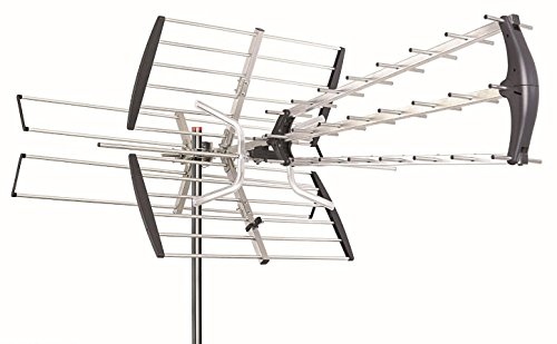 180 Mile HDTV 1080p Outdoor Amplified HD TV Antenna Digital UHF/VHF FM Radio