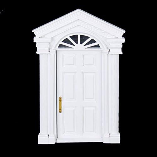 Maison de poupées miniature porte extérieure avec portique