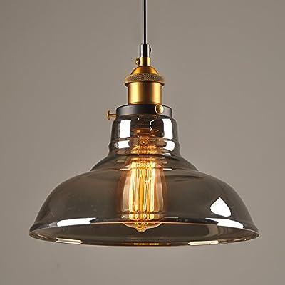 Vintage Plafonniers Luminaires Verre Industrielle Suspensions Rétro ZuPkXi