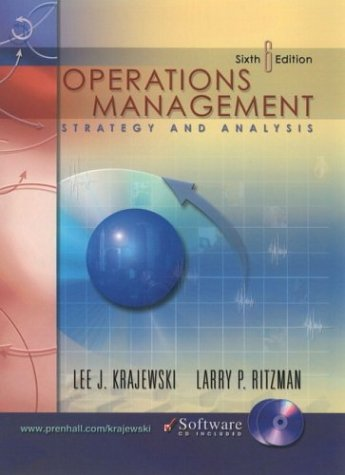 Operations Management and CD-ROM Package (6th Edition)