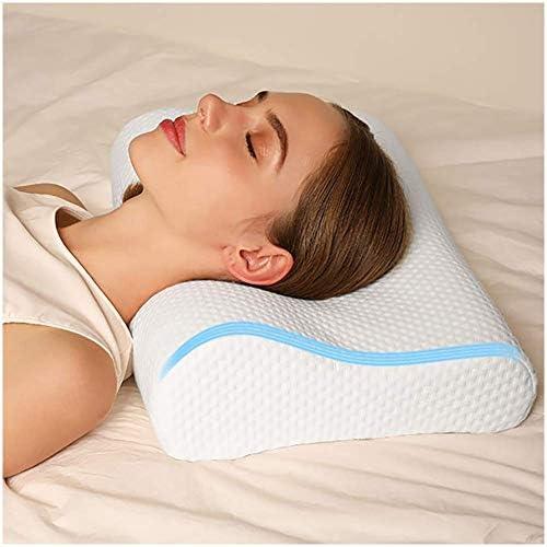 メモリーフォーム枕、ラテックスジェルラバー枕、スローリバウンドスペースメモリーコットンを使用、家庭用頸椎枕