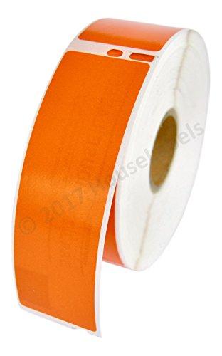 (2 Rolls; 350 Labels per Roll of DYMO-Compatible 30252 ORANGE Address Labels (1-1/8