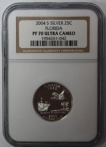 2004 S Florida Silver State Quarter 25c PF70UCAM ()