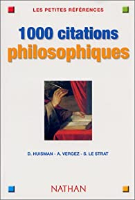 1000 citations de philosophie par André Vergez