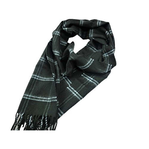 新作 英国製 Made in Scotland カシミヤ100%マフラー Double Windowpane ファッション マフラー ストール スカーフ バンダナ top1-ds-1984173-ah [簡素パッケージ品] B077DD5F34