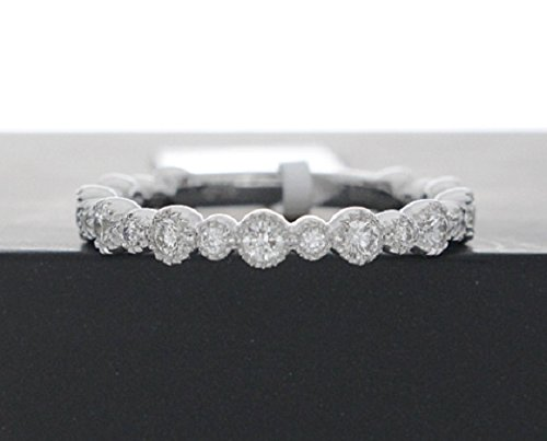 92030755f5aac Amazon.com: Milgrain Diamond Ring, Diamond Stacking Ring, Diamond ...
