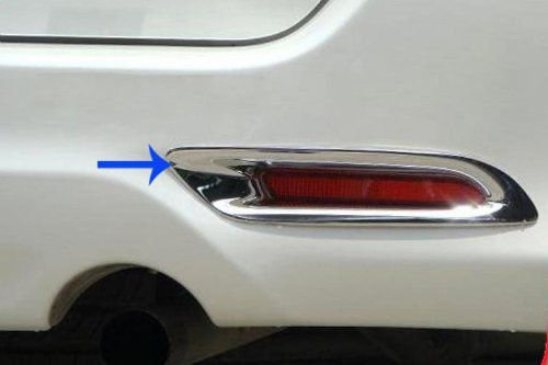 New Toyota Fortuner 2012-2013 Chrome Under Rear Tail Reflector Cover Trim - 25 Trim Reflector