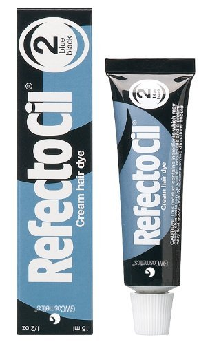 RefectoCil Cream Hair Dye – No. 2 Blue Black (Packaging May Vary)