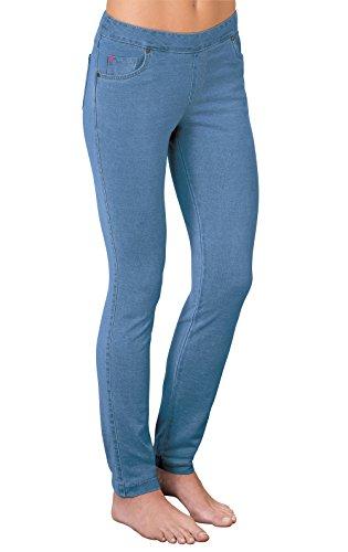 (PajamaJeans Women's Petite Skinny Stretch Denim Jeans, Bermuda, Large / 12-14)
