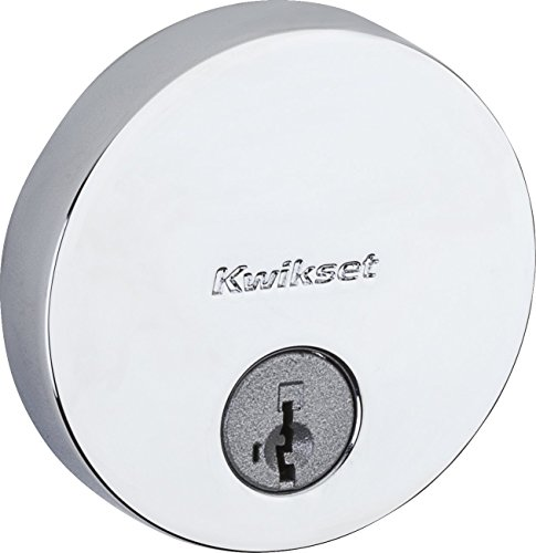 kwikset-258-uptown-low-profile-round-contemporary-deadbolt-featuring-smartkey-in-polished-chrome
