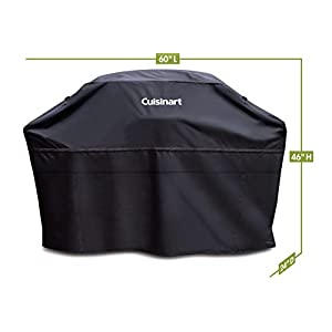 Cuisinart CGC-60B Heavy-Duty Barbecue Grill Cover, 60″, Black, Cover-60