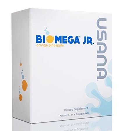 BiOmega Jr. (Omega 3 Fatty Acid for Kids - 14 Gel Packets) by