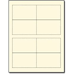 Small Linen Cream/Natural Place Cards - Printable Tent Cards for Inkjet & Laser Printers - 200 Tent Cards