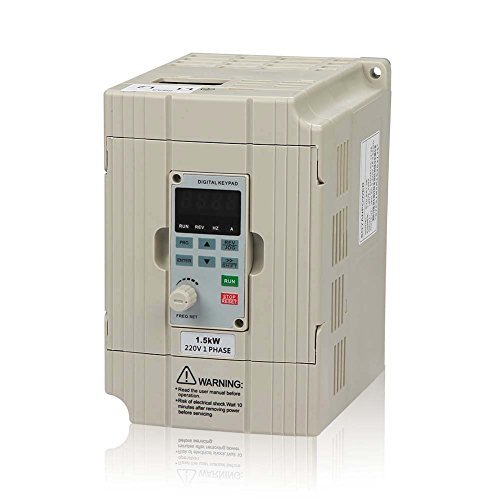 - LAPOND SVD-ES Series Single Phase VFD Drive VFD Inverter Professional Variable Frequency Drive 1.5KW 2HP 220V 7A for Spindle Motor Speed Control(VFD-1.5KW)
