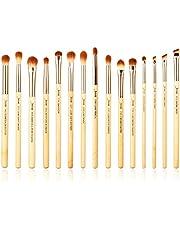Jessup Brand 15pcs Beauty Professional Makeup Brushes Set Bamboo Make up Brush Tools kit Eye Shader Liner Crease Eye Brush Kits T137