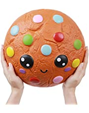 Anboor 10,2 inch Squishies Giant Cookies Chocolate Candy Slow Rising Kawaii Scented Soft Huge Squishies Stress Relief Toy for Kids