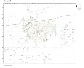 Amazon.com: ZIP Code Wall Map of Deming, NM ZIP Code Map Not