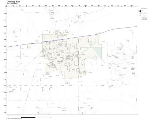 Amazon.com: ZIP Code Wall Map of Deming, NM ZIP Code Map Laminated