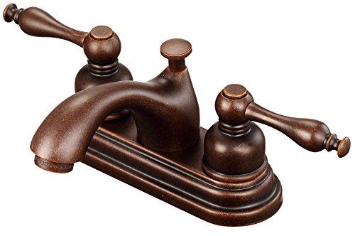 (Danze D301155BR Sheridan Two Handle Centerset Lavatory Faucet, Tumbled Bronze)