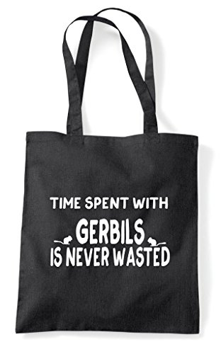 Spent Gerbils With Is Shopper Wasted Bag Black Time Tote Funny Never BTqfdqw