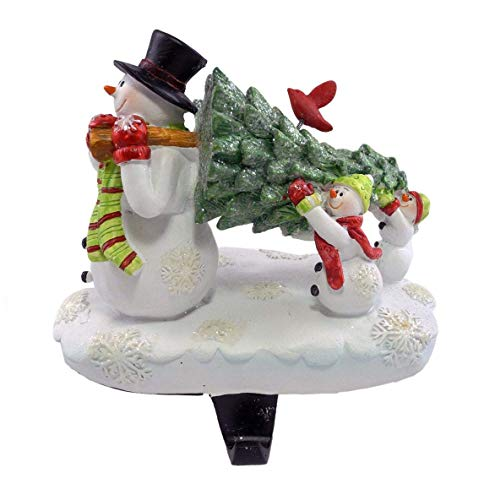 - Party Explosions Snowman Family Carrying Tree Christmas Stocking Holder
